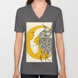 Sun and Moon Unisex V-Ausschnitt