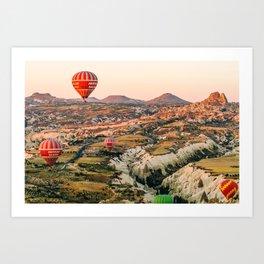 Goreme's Four Red Balloons Art Print