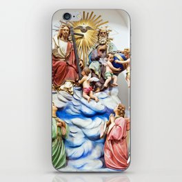 ANGELS, JESUS and GOD - Church of THE GODFATHER iPhone Skin