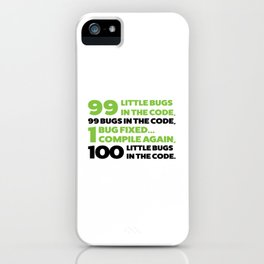 Little bugs in the code iPhone Case