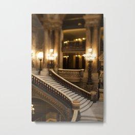 Palais Garnier Staircase -  Paris Opera House II Metal Print