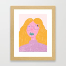 Working Girl Framed Art Print