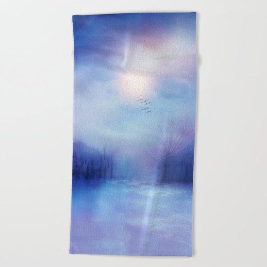 Calling The Sun XIX Beach Towel