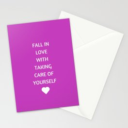 FALL IN LOVE WITH TAKING CARE OF YOURSELF Stationery Cards
