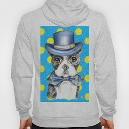 Boston Terrier Polka Dot Hoody