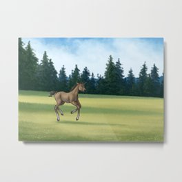 Unicorn Foal Metal Print