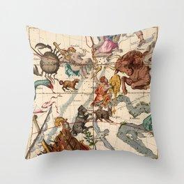 Constellation Chart 1693c Throw Pillow