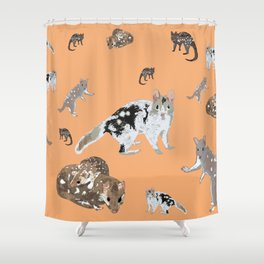 Eastern Quoll (Dasyurus viverrinus)  mandarin Shower Curtain