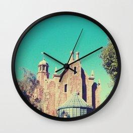 Mansion Architecture Closeup 1 Wall Clock