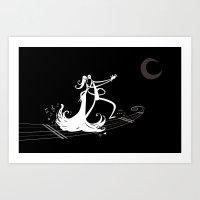 Moon lovers Art Print