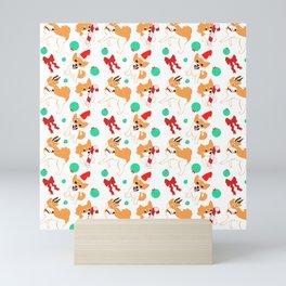 Festive Shibas Mini Art Print