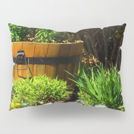 Old Barrel with Flowers - Jeronimo Rubio Photography 2016 Pillow Sham