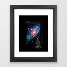 Looking Through a Masterpiece Framed Art Print