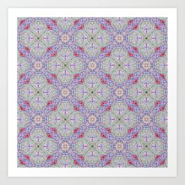 Lavender Hopscotch Art Print