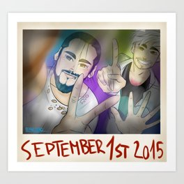 Happy 26th bday polaroid Art Print