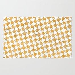 Orange Houndstooth pattern Rug