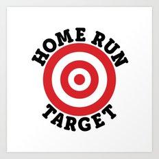 Home Run Target Art Print