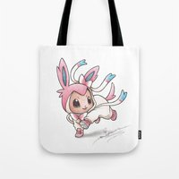 projectrocket Tote Bags featuring Ribbons and Bows, Oh my! by Randy C