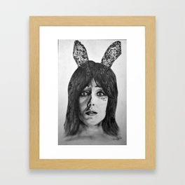 Chasing Rabbits Framed Art Print