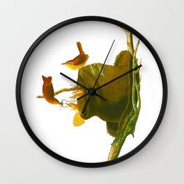House Wren Bird Wall Clock