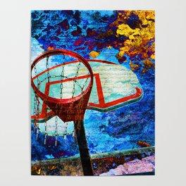Colorful Modern Basketball Art Poster