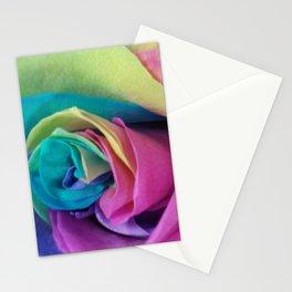 Rainbow rose Stationery Cards
