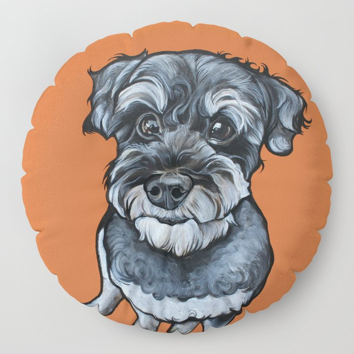 Frankie the Schnoodle Floor Pillow