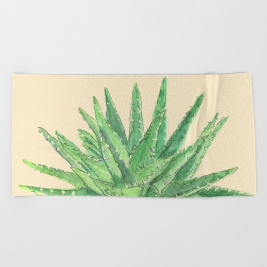 Aloe Beach Towel