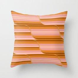 Geo Stripes - Butterscotch Throw Pillow