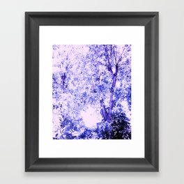 Blue trees Framed Art Print