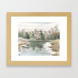Briars Golf Course Bridge, Dec 30,2015 Framed Art Print