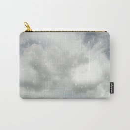 Snowing Winter Scene Illustration #decor #society6 Carry-All Pouch