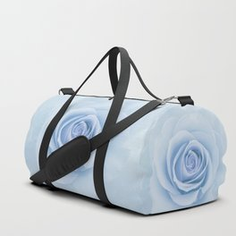 Soft Baby Blue Rose Abstract Duffle Bag