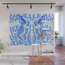 Kelp Forest Mermaid – Blue Palette Wall Mural