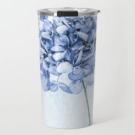 Hydrangea Blue 2 Travel Mug