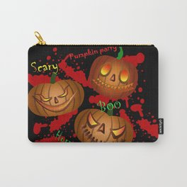 horrible pumpkin party  Carry-All Pouch