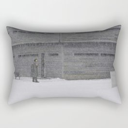 Sentry Playing Fife in Snow Fort George Canada Rectangular Pillow
