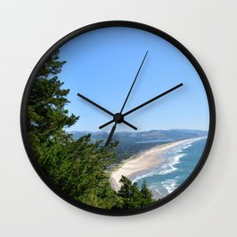 The Green Coast / Neahkahnie Mountain, Oregon Wall Clock