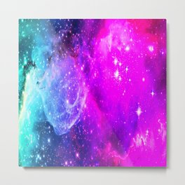 galaxy unicorn gradi Metal Print
