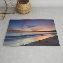 """""""Bolonia beach at sunset"""" Rug"""