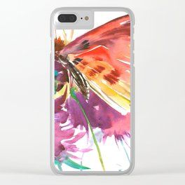 Red Butterfly Clear iPhone Case