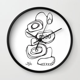Orbs N Lines - Scribbles 03 Wall Clock