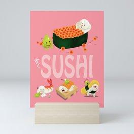 Cute Sushi Mini Art Print