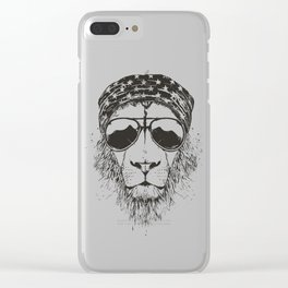 Wild lion Clear iPhone Case