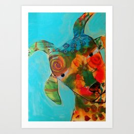 Whimsical Goat Art Print