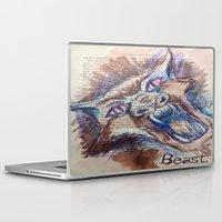 beast Laptop & iPad Skins featuring Beast by Lisa Beynon