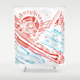 Diver Shower Curtain
