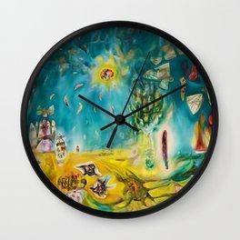 The Earth Is a Man landscape by R. Matta Wall Clock