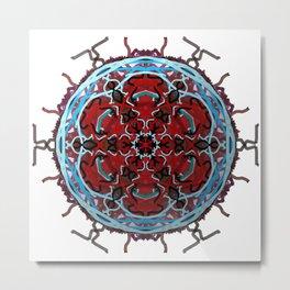 Tribal Cell Circle Metal Print