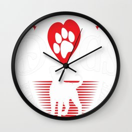 Pure Dogs. Pure Soul. Pure Love Wall Clock